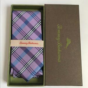 Tommy Bahama Island Prep Purple Silk Neck Tie New